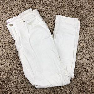 No Boundaries White Pants